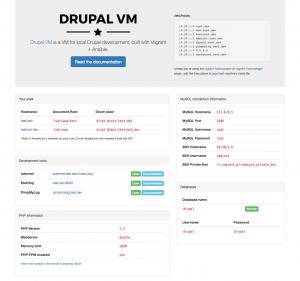 Drupal VM dashboard