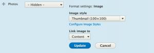 Image Formatter Options